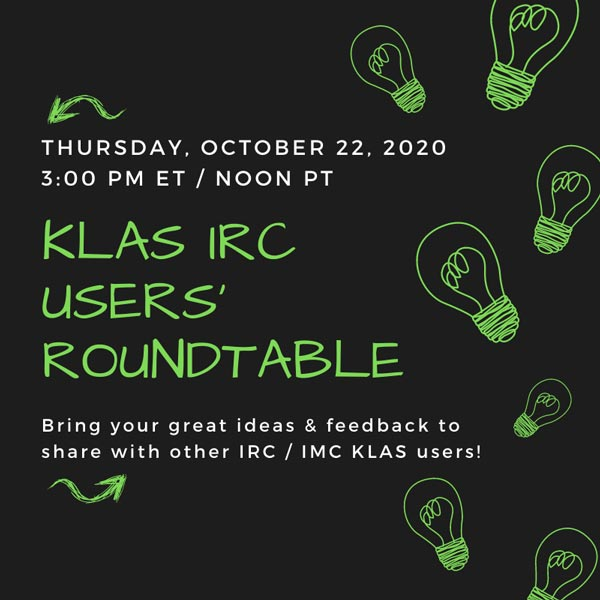 10 22 2020 IRC Users Roundtable