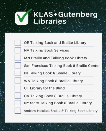 Next 10 KLAS+Gutenberg Libraries