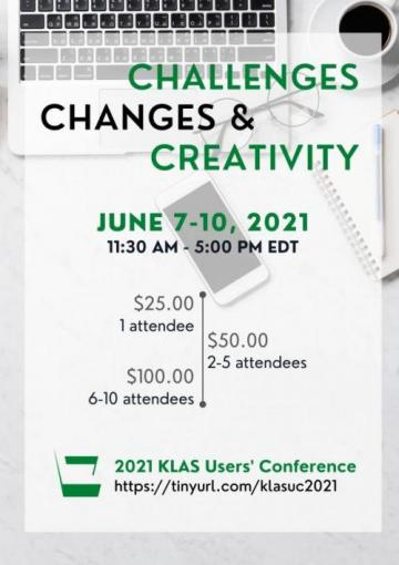 2021 Online KLAS Users' Conference